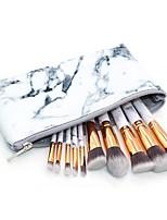10 Pças. Conjuntos de pincel Pincel para Blush Pincel para Sombra Pincel para Lábios Pincel para Pó Pincel para Base Pêlo Sintético