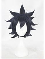 Недорогие -жен. Парики из искусственных волос Короткий Естественные прямые Синий Парики для косплей Парики к костюмам