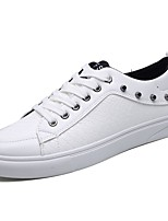 cheap -Men's Shoes PU Spring Fall Comfort Sneakers Rivet for Casual Black White