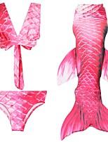 preiswerte -Die kleine Meerjungfrau Rock Kind Halloween Fest / Feiertage Halloween Kostüme Rosa Rot Fuchsie Meerjungfrau