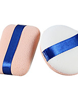 cheap -2 pcs Powder Puff Sponge Round Quadrate Women