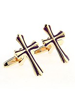 cheap -Cufflink Tie Bar Tie Clip  Brass OL Style Free Form Cufflinks Wedding Daily Men's Yellow Gold