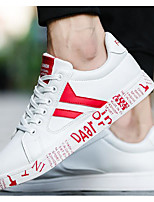 cheap -Men's Shoes PU Spring Fall Comfort Sneakers for Casual Black/White Blue Red