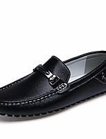 cheap -Men's Shoes Cowhide Winter Fall Comfort Loafers & Slip-Ons for Casual Blue Black White