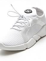 economico -Da donna Scarpe Tessuto Inverno Comoda Sneakers Piatto Punta tonda per Casual Bianco Nero