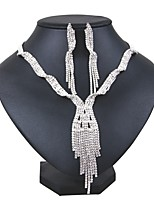 cheap -Women's Jewelry Set Bridal Jewelry Sets Basic Fashion Wedding Party Silver Plated 1 Necklace Earrings