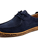 cheap -Men's Shoes Suede Spring Fall Comfort Loafers & Slip-Ons for Casual Burgundy Khaki Blue