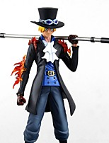 cheap -Anime Action Figures Inspired by One Piece Ace PVC 25 CM Model Toys Doll Toy