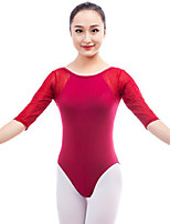 cheap -Ballet Leotards Women's Performance Cotton Split Joint Half Sleeve Natural Leotard