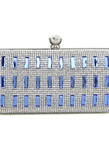 cheap -Women Bags Metal Evening Bag Crystal Detailing for Event/Party All Season Silver Gold Blue