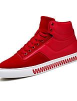 economico -Da uomo Scarpe Finta pelle Inverno Autunno Comoda Sneakers Stivali metà polpaccio per Casual Nero Grigio Rosso