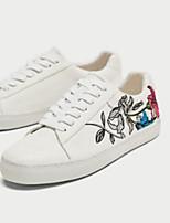 economico -Da donna Scarpe PU (Poliuretano) Primavera Autunno Comoda Sneakers Footing Ballerina Punta chiusa per Casual Bianco