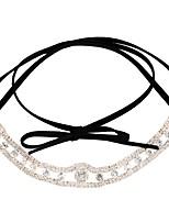 abordables -Mujer Rectángulo Clásico Moda Gargantillas Cristal Diamante Sintético Legierung Gargantillas , Diario