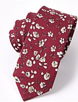 cheap -Men's Cotton Necktie,Casual Print All Seasons Red