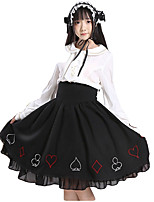 Sweet Lolita Dress Princess Lolita Women's Girls' Skirt Cosplay Black Sleeveless Sleeveless Ankle Length