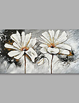 cheap -Hand-Painted Floral/Botanical Horizontal,Modern Canvas Oil Painting Home Decoration One Panel