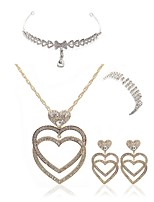 cheap -Women's Bridal Jewelry Sets forehead jewelry Rhinestone Fashion European Wedding Party Imitation Diamond Alloy Heart Body Jewelry 1