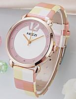 Недорогие -Жен. Модные часы Наручные часы Имитационная Четырехугольник Часы Китайский Кварцевый Защита от влаги Имитация Алмазный PU Группа