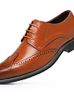 cheap -Men's Shoes Cowhide Spring Fall Comfort Oxfords for Casual Camel Blue Brown Black