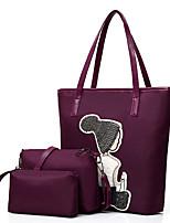 preiswerte -Damen Taschen Oxford Tuch Bag Set 3 Stück Geldbörse Set Pailletten für Einkauf Normal Alle Jahreszeiten Frühling Blau Schwarz Grau Purpur