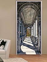 Arquitectura 3D Pegatinas de pared Calcomanías 3D para Pared Calcomanías Decorativas de Pared,Vinilo Decoración hogareña Vinilos