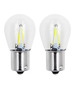 cheap -2pcs 2W COB Turn Light 1156/1157 White/Warm/Blue/Yellow/Red Color Glass Led Filament S25 Auto Car DC12V