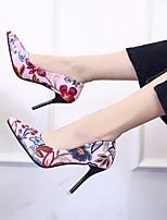 Недорогие -Для женщин Обувь Полиуретан Весна Осень Туфли лодочки Обувь на каблуках На шпильке Заостренный носок для Повседневные Черный Коричневый