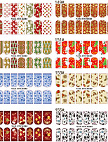 cheap -5 Nail Decals Christmas Nail Sticker Multi-Color Nail Decoration