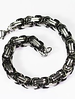 Men's Women's Chain Bracelet , Vintage Basic Stainless Steel Geometric Jewelry Daily Formal