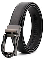 cheap -Men's Leather Alloy Waist Belt,Black Party Work Casual Solid Metal Pure Color