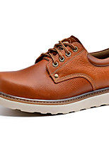 cheap -Men's Shoes Nappa Leather Spring Fall Comfort Oxfords for Casual Outdoor Brown Black
