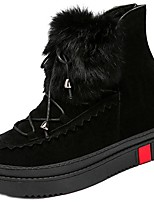 cheap -Women's Shoes Synthetic Microfiber PU Winter Combat Boots Boots Flat Heel Round Toe Booties/Ankle Boots for Casual Yellow Black