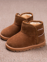 cheap -Boys' Shoes Microfibre Winter Spring Snow Boots Fashion Boots Bootie Boots Booties/Ankle Boots Hook & Loop for Casual Outdoor Pink Brown