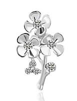 cheap -Women's Brooches Rhinestone Metallic Basic Alloy Irregular Jewelry For Wedding Party