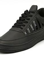 Недорогие -Для мужчин обувь Резина Весна Осень Удобная обувь Кеды Ленты для Белый Черный
