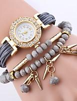 economico -Per donna Orologio casual Orologio alla moda Orologio braccialetto Cinese Quarzo imitazione diamante PU Banda Fiore Casual Torre Eiffel