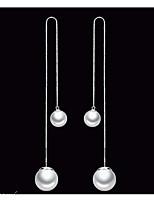 Недорогие -Жен. Серьги пуассеты На каждый день Милая Искусственный жемчуг Сплав В форме линии Бижутерия Для вечеринок Повседневные