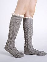 cheap -Women's Hosiery Warm StockingsAcrylic Plaid/Check 1set Light gray Dark Gray Black White Brown