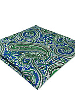 cheap -Men's Silk Cravat & Ascot,Vintage Cute Party Work Casual Paisley All Seasons Blue
