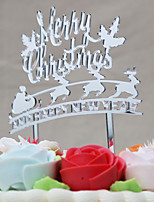 Cake Topper Holiday Religious & Inspirational Acrylic Euramerican Chrismas Plastic Special Occasion Others with Acrylic Bows 1 OPP