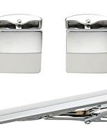 Недорогие -В форме линии Белый Запонки Зажимы для галстука Медь Простой На каждый день Повседневные Официальные Муж. Бижутерия