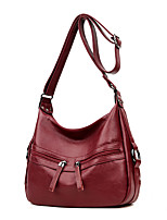 cheap -Women Bags PU Shoulder Bag Buttons for Casual Office & Career All Season Purple Red Black Gold Blue