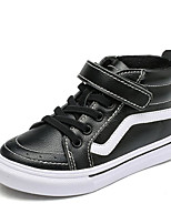 cheap -Boys' Shoes Cowhide Spring Fall Comfort Sneakers Walking Shoes Magic Tape for Casual White Black