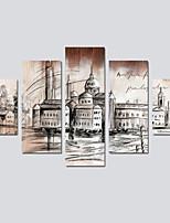 economico -Stampa trasferimenti su tela Modern,Cinque Pannelli Tela Stampa Decorazioni da parete Decorazioni per la casa