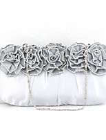 cheap -Women Bags Silk Evening Bag Ruffles for Event/Party All Season Silver Red Black