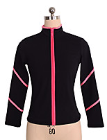 cheap -Figure Skating Top Women's Girls' Ice Skating Top Violet Pink Spandex Stretchy Performance Practise Skating Wear Solid Long Sleeves Ice