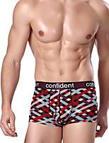 abordables -Hombre Elástico Estampado Medio Boxer,Modal Licra 1pc Fucsia