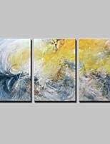 preiswerte -Handgemalte Abstrakt Horizontal,Einfach Modern Leinwand Hang-Ölgemälde For Haus Dekoration Drei Paneele