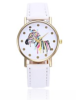 Women's Casual Watch Chinese Quartz Casual Watch PU Band Casual Colorful Minimalist Black White Blue Red Orange Brown Green Pink Purple