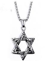 cheap -Men's Star Fashion Pendant Necklace , Titanium Pendant Necklace , Gift Daily